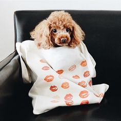 Keep your babies warm and still look good with lips pattern tote bag.