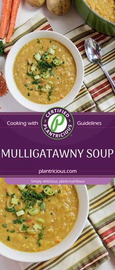 This Vegan Mulligatawny Soup has been on my favorite list for quite a few years. At some point, I fell in love with Indian food. And, it's a bit surprising given that I was not exposed much of any unique cuisine growing up. It was standard American fair, meat and potatoes. Although I did love the white bean soup my mother often made.