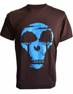 SODAtees SKULL head night tree jungle Men's T-Shirt graphic tee - Small - Brown SODAtees,http://www.amazon.com/dp/B00KNKCWLW/ref=cm_sw_r_pi_dp_3FaItb0S7BN9MP2V