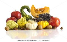 autumnal fruits and vegetable composition
