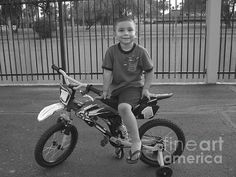 """First Bike"" Black and white street photography(Photo by Lin Haring)"
