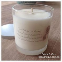 Remembrance Soy Candle by Frieda & Gus 65hr. www.friedaandgus.com.au. #friedaandgus #soycandle #madeinaustralia #geelong