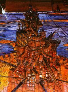 Moebius - The Fifth Element, concept art (1997) – https://www.pinterest.com/pin/73887250116146111/