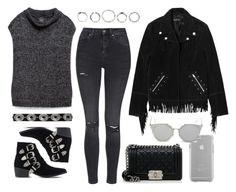 """""""Untitled #10853"""" by theleatherlook ❤ liked on Polyvore featuring Zara, Topshop, Toga, The Kooples, Chanel, Case-Mate and GANT"""