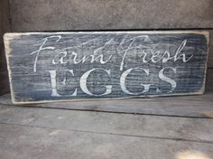 Farm Fresh Eggs  Wooden Sign Kitchen Decor Home Decor by primd, $16.00