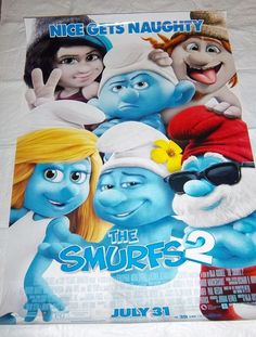 The Smurfs 2 'Nice Gets Naughty' Original Two Sided Movie Poster, 27x40 Size