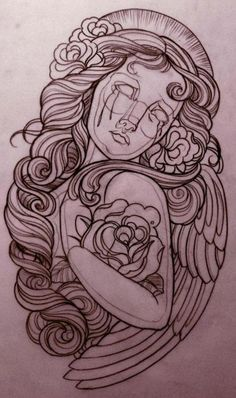 tattoo sketch by Emily Rose Murray, a tattoo artist in Melbourne.