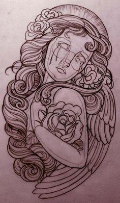 Beautiful design by Emily Rose (http://www.myspace.com/emulrose)  Gorgeous hair!