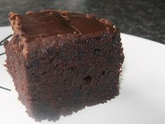 chocolate cake with no eggs, milk, butter = cheap, but moist and delish
