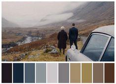 Movie Color Palette, Colour Pallette, Pantone, Cinema Colours, Color In Film, Roger Deakins, Color Script, Old Movie Posters, Cinematic Photography