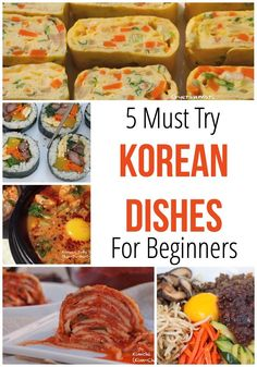 Must Try Korean Dishes - The Hungry Traveler 5 Must Try Korean Recipes for Beginners including gambap, tofu stew, Korean egg roll, kimchi, and bibimbap. Learn how to incorporate Korean classics into your cooking repertoire! Korean Egg Roll, Korean Rice, Korean Side Dishes, Think Food, Asian Cooking, Recipes For Beginners, International Recipes, The Best, Paleo