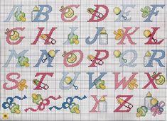 alfabeto bimbi ciucci biberon