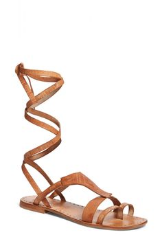 Ready for festival season with these on-trend lace-up Free People gladiator sandals.