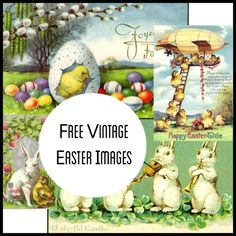 Sweetly Scrapped: Free VIntage Easter Images
