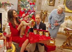 Spoofs! The Royal Family celebrates George's first Christmas.