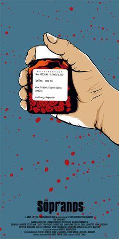 The Sopranos (1999–2007) ~ Minimal TV Series Poster by Dan Sherratt #amusementphile Hbo Tv Series, Drama Tv Series, Serial Art, Best Shows Ever, Best Tv Shows, Favorite Tv Shows, Tony Soprano, Gangster Movies, Fan Poster