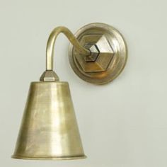 flat back plate with out the detail Holt Wall Light in Antiqued Brass made by Jim Lawrence