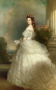 Sisi, Kaiserin Elisabeth von Österreich, Maler Franz Xaver Winterhalter, 1864.