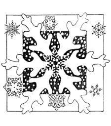 Contexte caoutchouc Unmounted Stamp - Flocon de neige