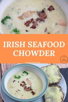 This quick and easy Irish seafood chowder recipe is delicious. Perfect for a warming lunchtime treat. Irish seafood chowder, irish seafood chowder recipe, irish seafood chowder recipe ireland, irish seafood chowder ireland, authentic irish seafood chowder, creamy irish seafood chowder, seafood chowder recipe easy, seafood chowder best, seafood chowder