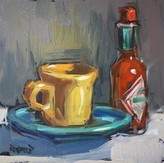 """Espresso and Tabasco"" original fine art by Cathleen Rehfeld"