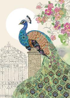 Bug Art B018 Peacock Gate greetings card