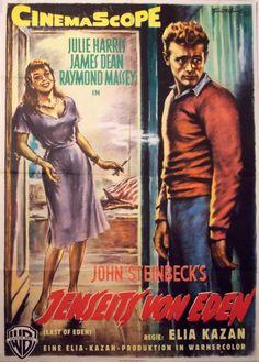 Jenseits von Eden  (East of Eden)Dt. Plakat   USA 1955 - Regie: Elia Kazan   mit: James Dean, Julie Harris