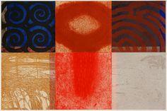 98-風紡-5 / 98-Spinning the Wind-5  copperplate print with chine collé( etching)  林孝彦 HAYASHI Takahiko 1998