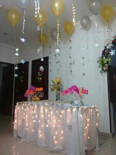 Nuestra decoracion para la fiesta de fin de año