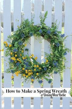 How to Decorate a Grapevine Wreath for Spring