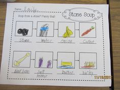 Teacher Bits and Bobs: Search results for Stone soup..... Flow map for retelling