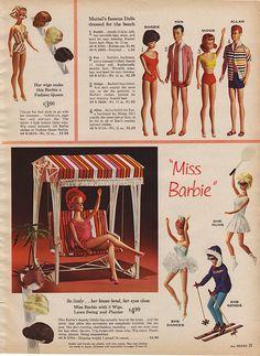 Barbie in Sears catalog, 1964 Play Barbie, Barbie I, Vintage Barbie Dolls, Barbie World, Barbie And Ken, Barbie Clothes, Barbie Stuff, Barbie House, Barbie Family