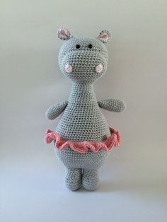 Ravelry: Oda the Hippo pattern by Tine NielsenThis is a crochet pattern, not the finished toy as shown in the photos. This PDF pattern comes with:best 25 crochet hippo ideas on crochet baby Crochet Hippo, Crochet Doll Pattern, Cute Crochet, Crochet Animals, Crochet Crafts, Crochet Dolls, Crochet Projects, Amigurumi Patterns, Amigurumi Doll