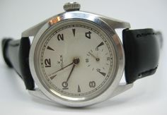 ROLEX PRECISION 50 s  STAINLESS STEEL WATCH WHITE GOLD BEZEL