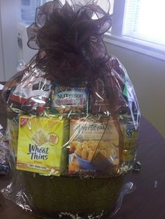 A gift basket I made for a co-worker's diabetic husband.