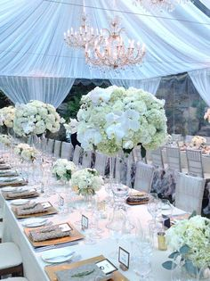Tall Centerpieces - Fleurs de France | Napa Wedding Flowers