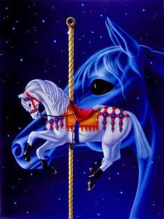 Sue Dawe on-line fantasy art gallery featuring Unicorns, Castles, Dragons Unicorn Fantasy, Unicorn Art, Dream Fantasy, Fantasy Art, Sword And Sorcery, All The Pretty Horses, Carousel Horses, Horse Art, Fairy Tales