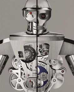 Believe it or not: this robot is a very reliable table clock. His name is Balthazar, the 16-inch robot clock that carefully count hours, minutes, and seconds.