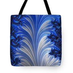 Digital fractal art, print-on-demand tote bags available in different sizes  #arankaarts #abstractart #digitalart #fractalart #blueandwhiteart #totebags Thing 1, Art Bag, Abstract Drawings, Fractal Art, Tag Art, Basic Colors, Bag Sale, Zipper Pouch, Color Show