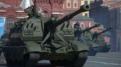 Sistema Móvil Autopropulsado Pesado de Artillería MSTA-S, Plaza Roja, 9 de mayo de 2014