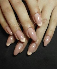 Nude round nails... I  this look