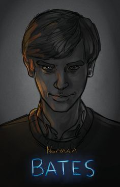 Norman - Bates Motel Norman Bates Motel, Bates Motel Cast, Bad Fan Art, Actress Jessica, Rob Zombie, House On A Hill, Character Design Inspiration, Art Google, Horror Movies
