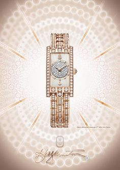 Twitter / HarryWinston: The Avenue C Mini Art Deco, powerful radiance in the most delicate proportions.