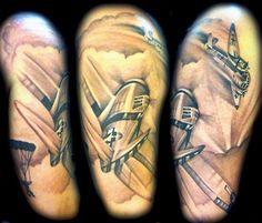 WWII American German Dogfight Tattoo Nic Westfall