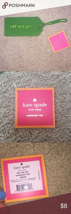 Brand new with tags Kate Spade Never used and in perfect condition luggage tag! Super cute and perfect for traveling and personalizing! kate spade Other
