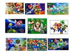 18 Mario Brothers Stickers Super Mario Party by Stickertime101, $2.99
