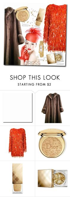 """Orange"" by interesting-times ❤ liked on Polyvore featuring Christian Dior, Ashish, Burberry, Balmain and longsleeve"