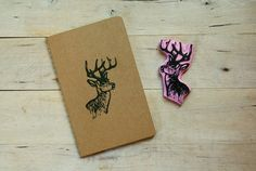 WhiteTailed Stag Deer Woodland Rustic Nature by subtleacts on Etsy, $10.00