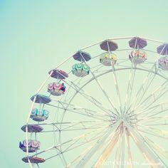 "ferris wheel  Original Signed Fine Art Photograph    Title: Wonder Wheel    Photographer: Krista Keltanen    Size: 8""x8"" in (20x20cm)"