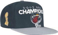 3752cc26ce5 Amazon.com   NBA Miami Heat Official 2012 NBA Champions Locker Room Snap  Back Adjustable Hat